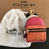Coach Multicolor Backpack New Colorblock Leather Mini Coin Purse Key Chain F73064