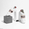 Giày Gucci Stripe Leather Sneaker 'White Red Black' 523469 0FIV0 9091