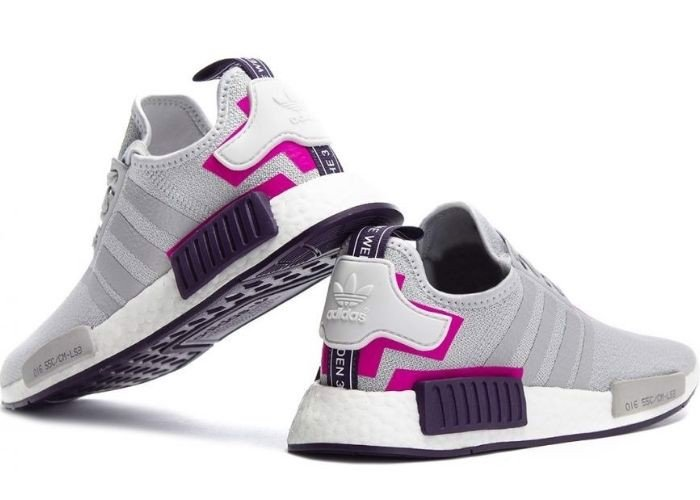 Adidas NMD R1 Grey Two Shock Pink BD8006