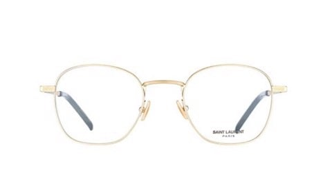 Saint Laurent Eyeglasses in Gold SL 128 003