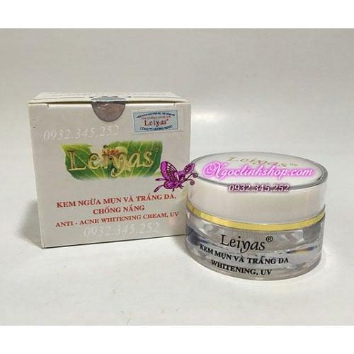 Kem ngừa mụn dưỡng trắng da ngày và đêm Leiyas - 183