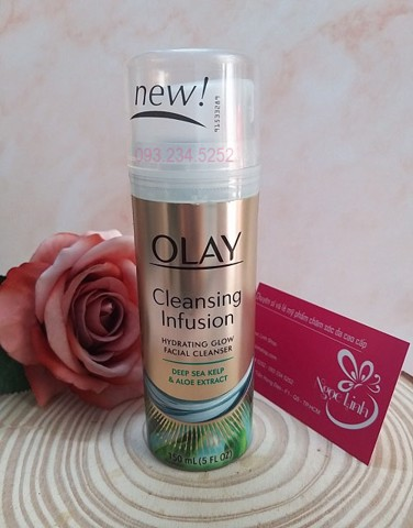 Sữa rửa mặt Olay Cleansing Infusion Hydrating Glow