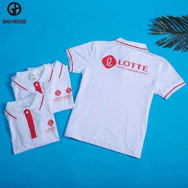 đồng phục nhân biên Lotte màu trắng