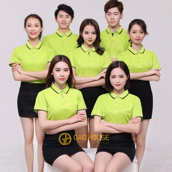 Đồng phục công ty màu xanh chuối