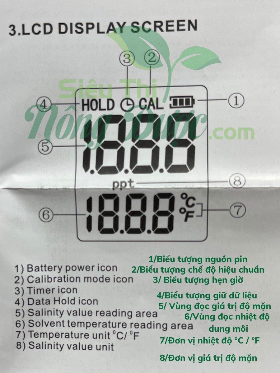 BÚT ĐO ĐỘ MẶN SMART SENSOR SALINITY METER AR8012