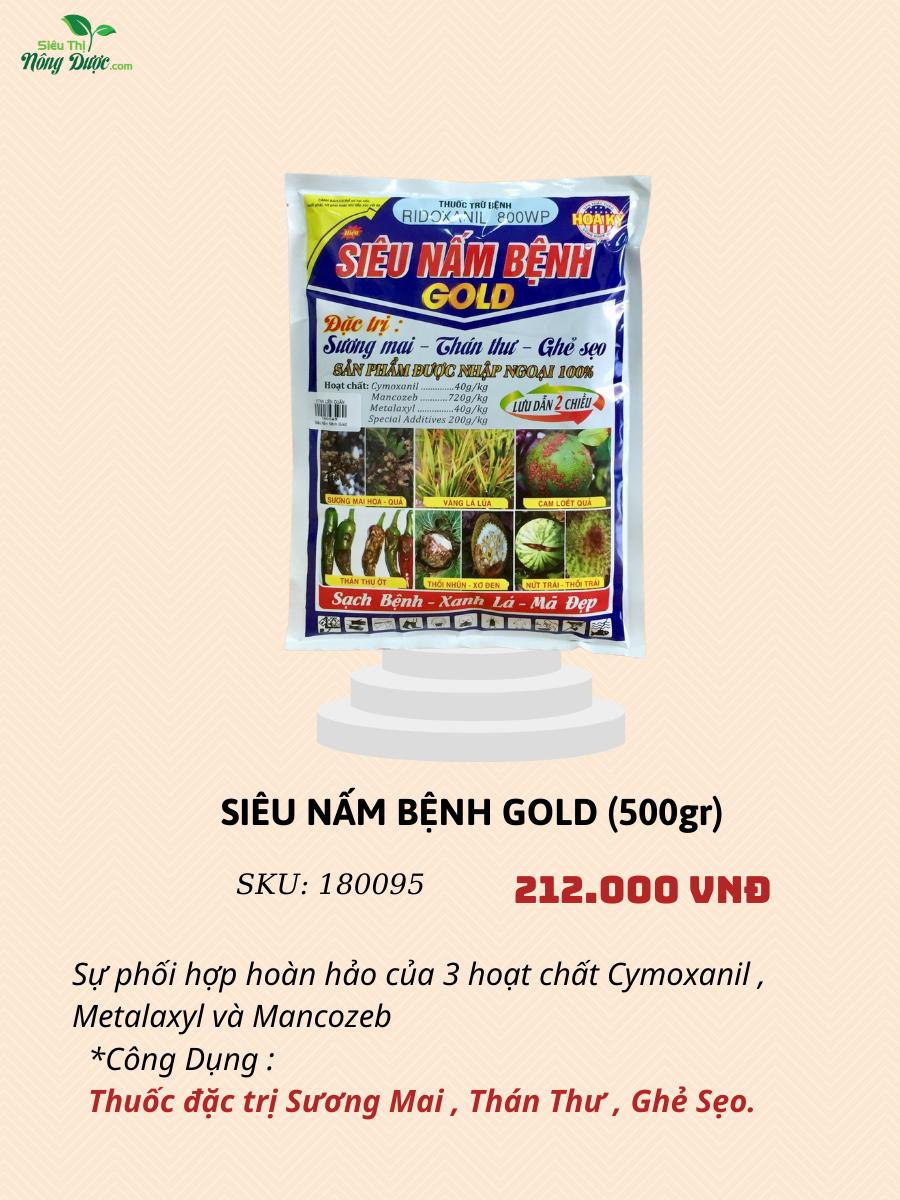 SIÊU NẤM BỆNH GOLD (500gr)