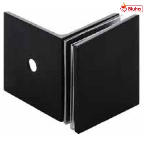 Kẹp kính tường 90° có đế Hafele màu đen 981.00.543