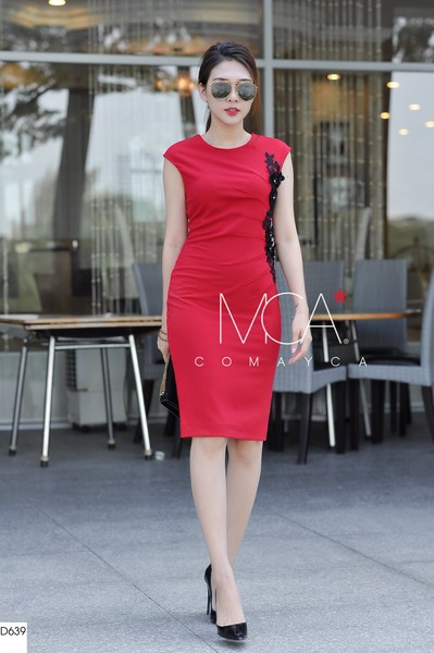 RUCHED STRETCH-COTTON JERSEY DRESS-D639