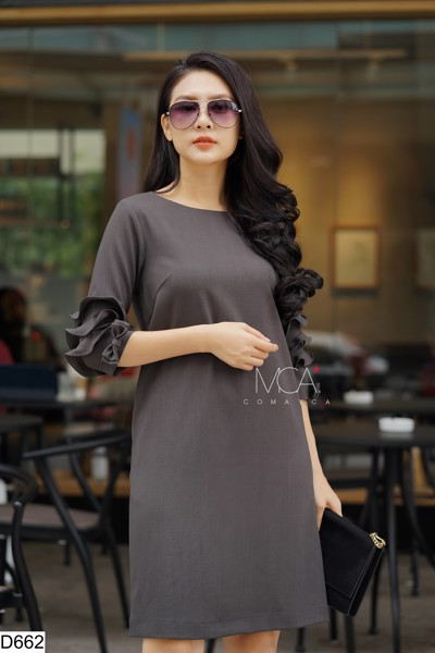 RUFLED SLEEVES TUNIC DRESS-D662