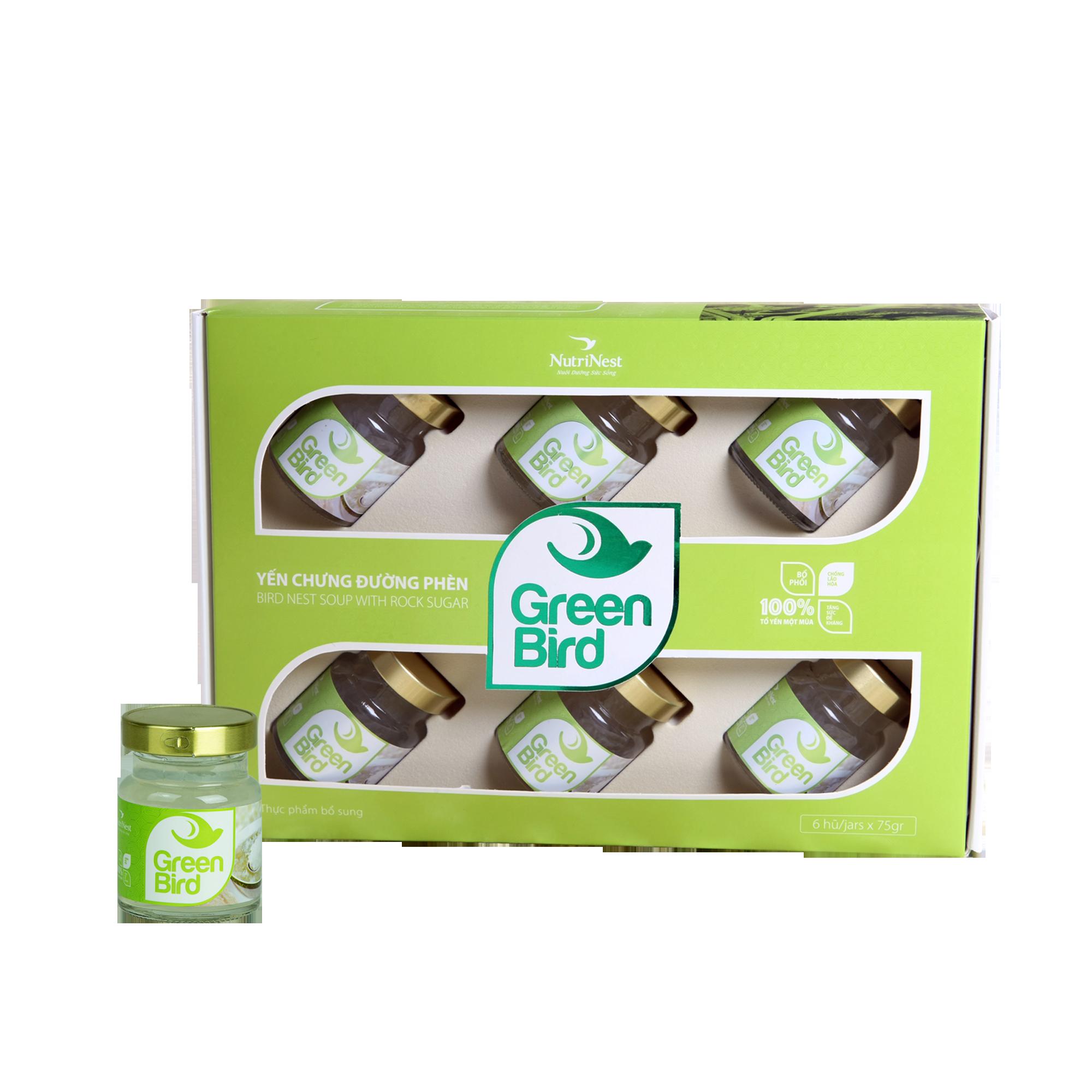 礼品-绿鸟-燕窝炖冰糖水 (6罐 x 72克/罐)