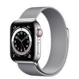 Apple Watch Series 6 GPS+Cellular 44mm (Silver Stainless Steel Case - Silver Milanese Loop)- Đang có hàng