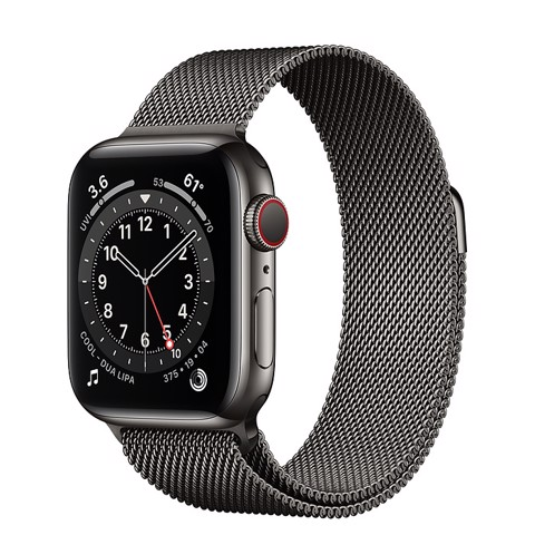 Apple Watch Series 6 GPS+Cellular 44mm (Graphite Stainless Steel Case - Graphite Milanese Loop)- Đang có hàng