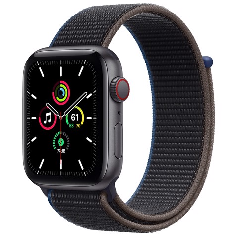 Apple Watch SE GPS+Cellular 44mm (Space Gray Aluminium Case - Charcoal Sport Loop) - Đang có hàng