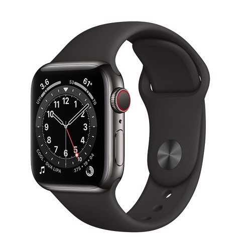 Apple Watch Series 6 GPS+Cellular 40mm (Graphite Stainless Steel Case - Black Sport Band)- Đang có hàng
