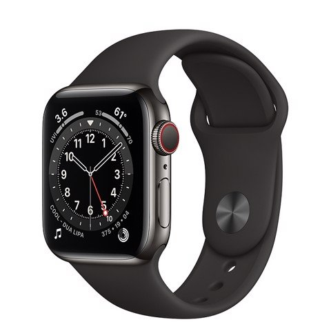Apple Watch Series 6 GPS+Cellular 44mm (Graphite Stainless Steel Case - Black Sport Band)- Đang có hàng
