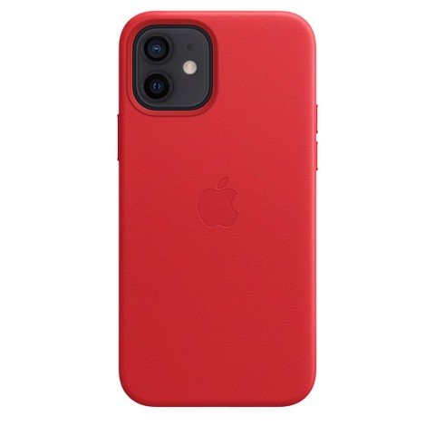 Apple iPhone 12 | 12 Pro Leather Case with MagSafe - (PRODUCT) RED