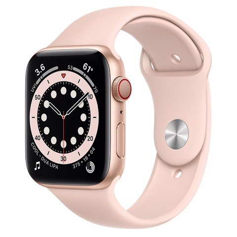Apple Watch Series 6 GPS+Cellular 44mm (Gold Aluminium Case - Pink Sand Sport Band)- Đang có hàng