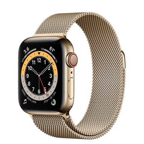 Apple Watch Series 6 GPS+Cellular 44mm (Gold Stainless Steel Case - Gold Milanese Loop)- Đang có hàng