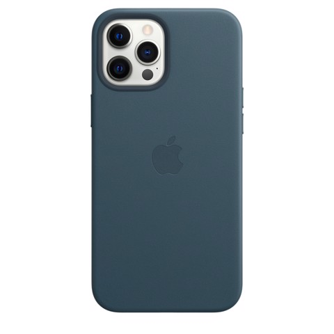 Apple Leather Case with MagSafe iPhone 12 Pro Max - Baltic Blue
