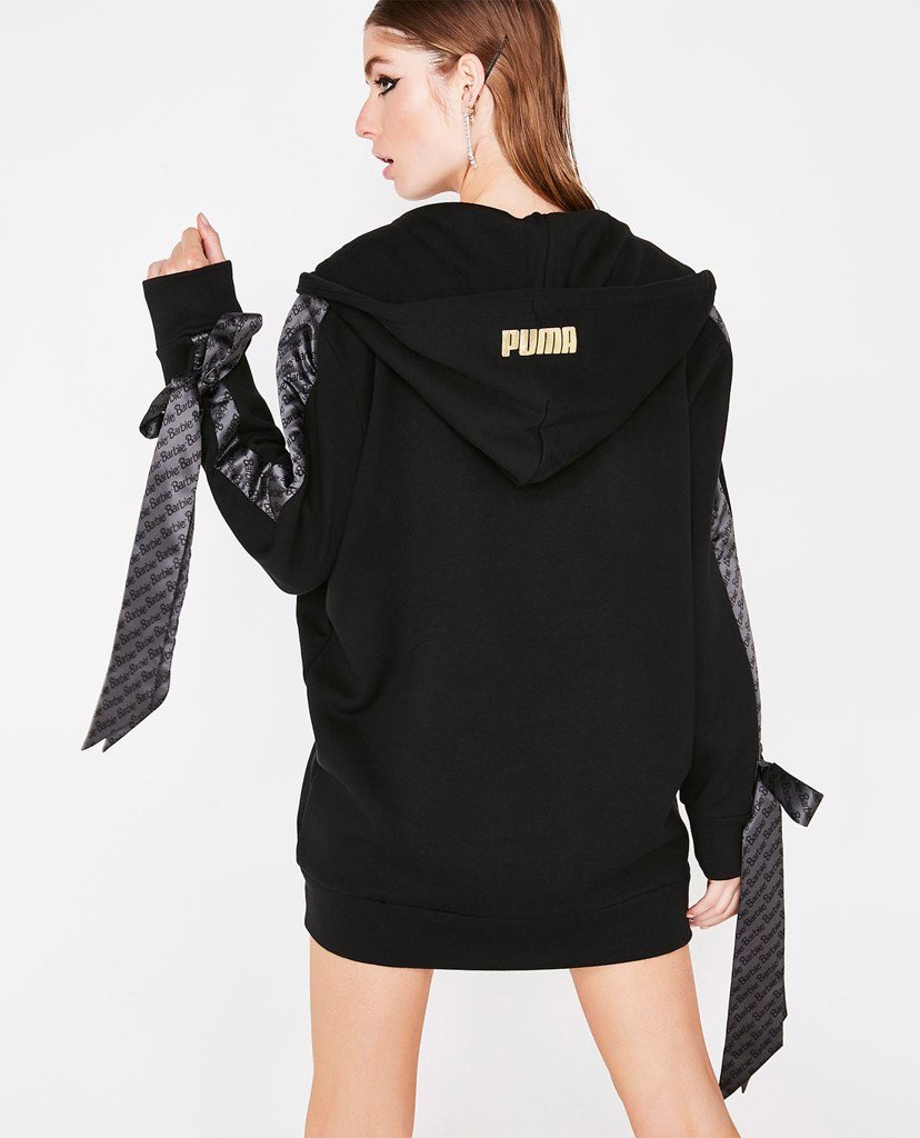 PUMA - Áo Hoodie nữ  Zip-Up Puma x Barbie