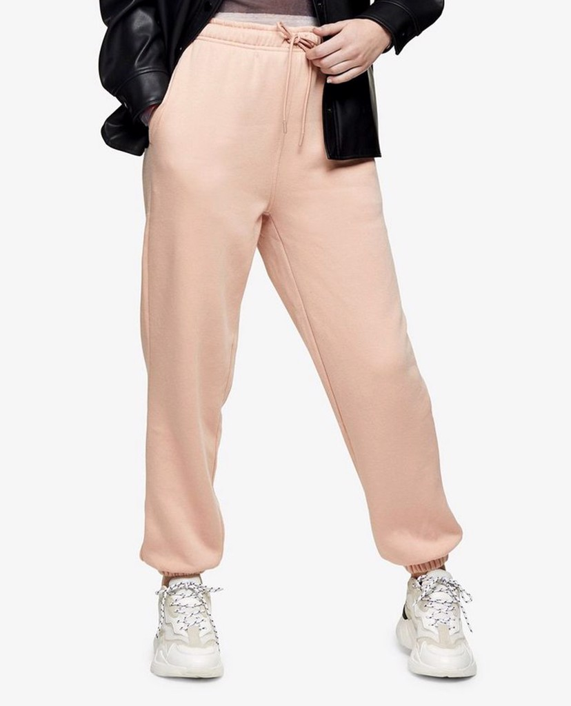 TOPSHOP - Quần jogger nữ bo gấu Pale Pink 90'S Oversized