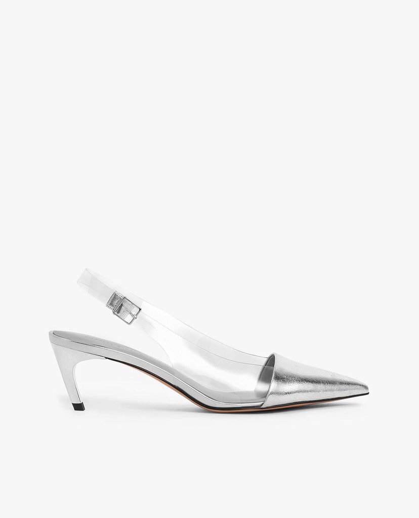 CHARLES & KEITH - Giày cao gót mũi nhọn See Through Effect Metallic