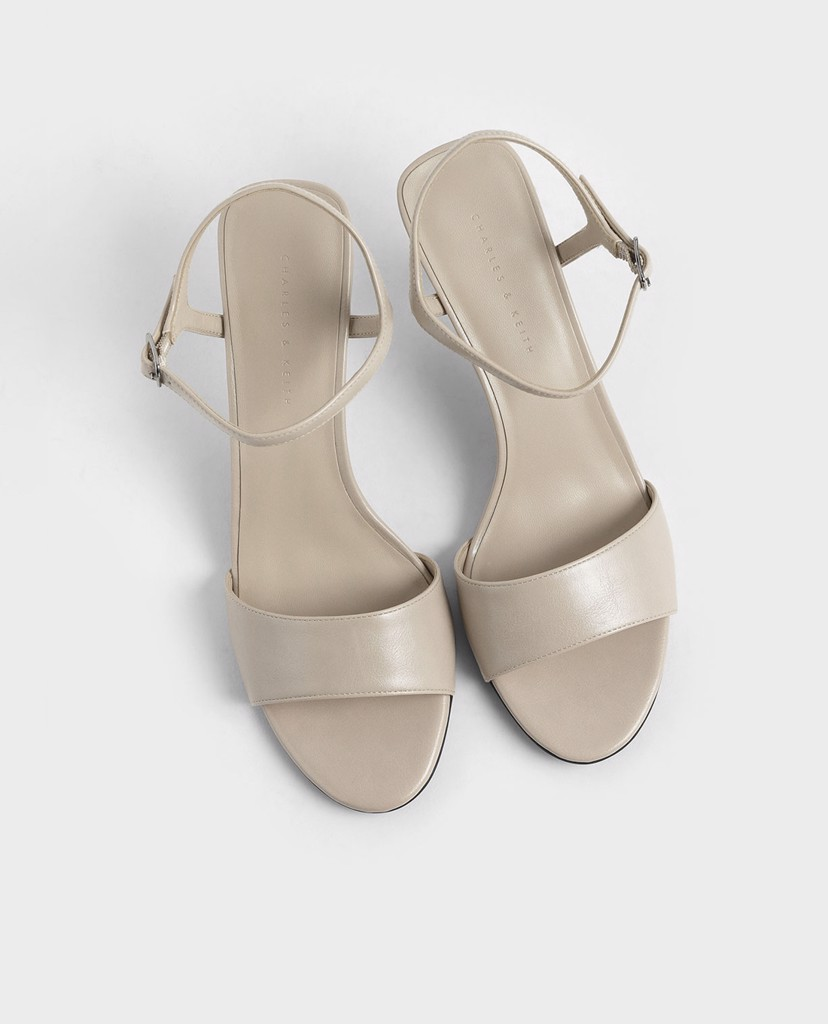CHARLES & KEITH - Giày cao gót Two Tone Sculptural Heel Open Toe