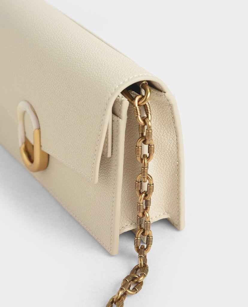 CHARLES & KEITH - Ví cầm tay nữ Stone Embellished Envelope