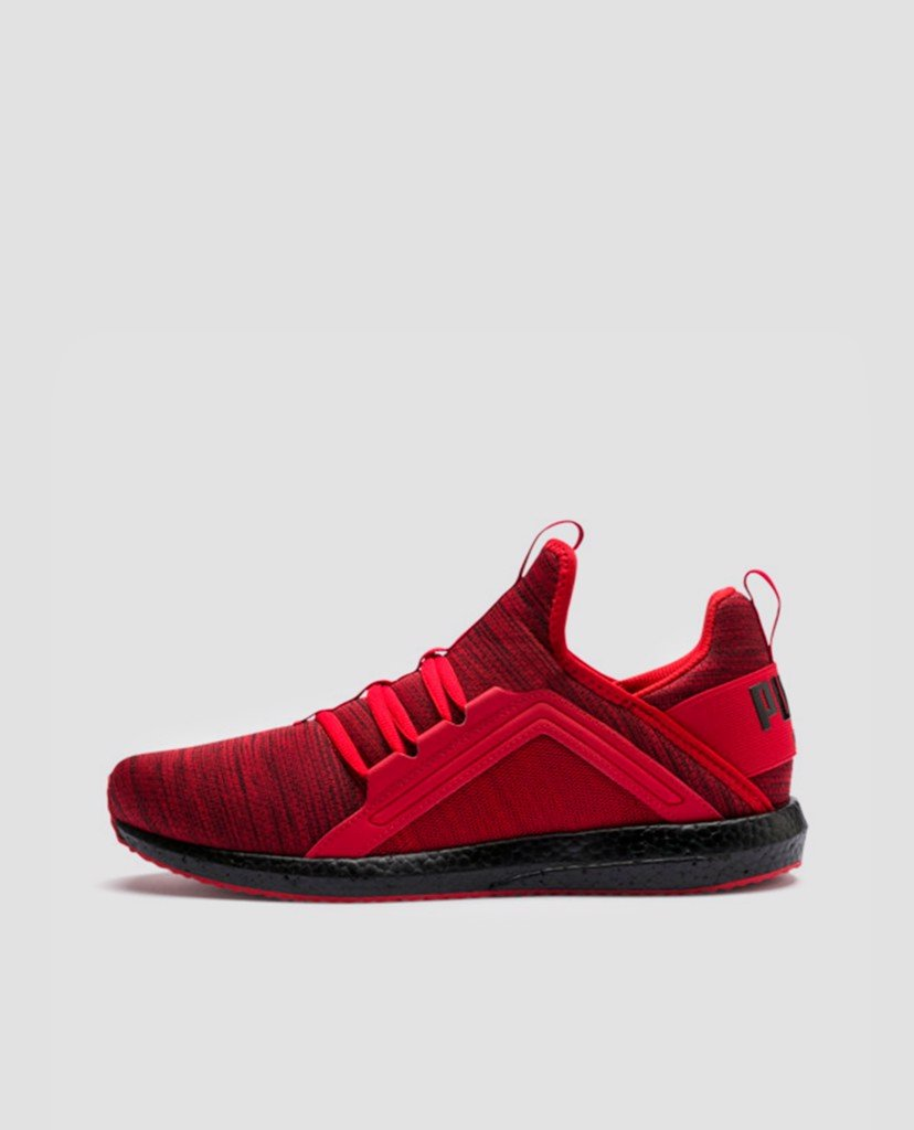 PUMA - Giày Sneaker nam Mega NRGY Heather Knit Red