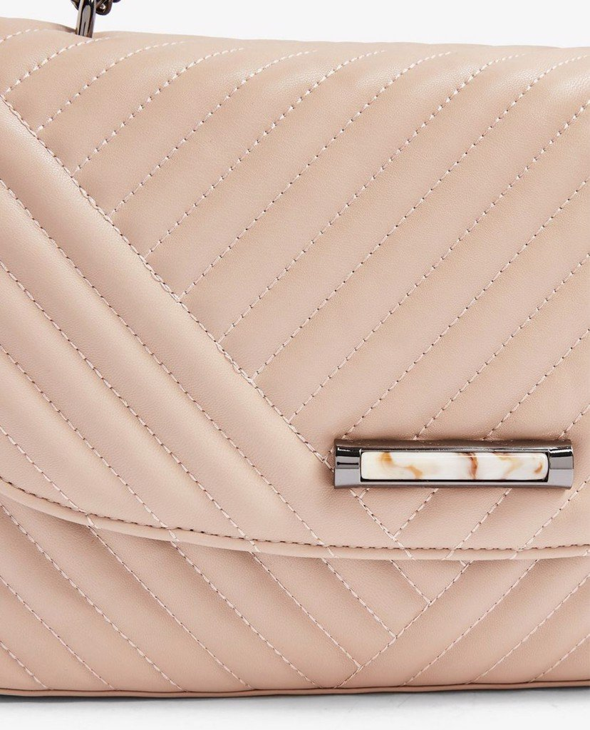 TOPSHOP - Túi đeo vai nữ SOLO Pale Pink Quilted