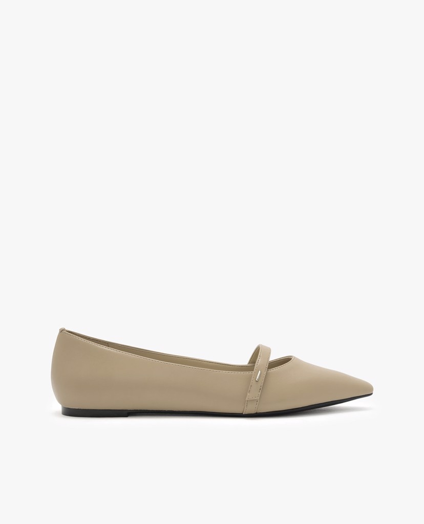 CHARLES & KEITH - Giày đế bệt nữ mũi nhọn Pointed Toe Mary Janes