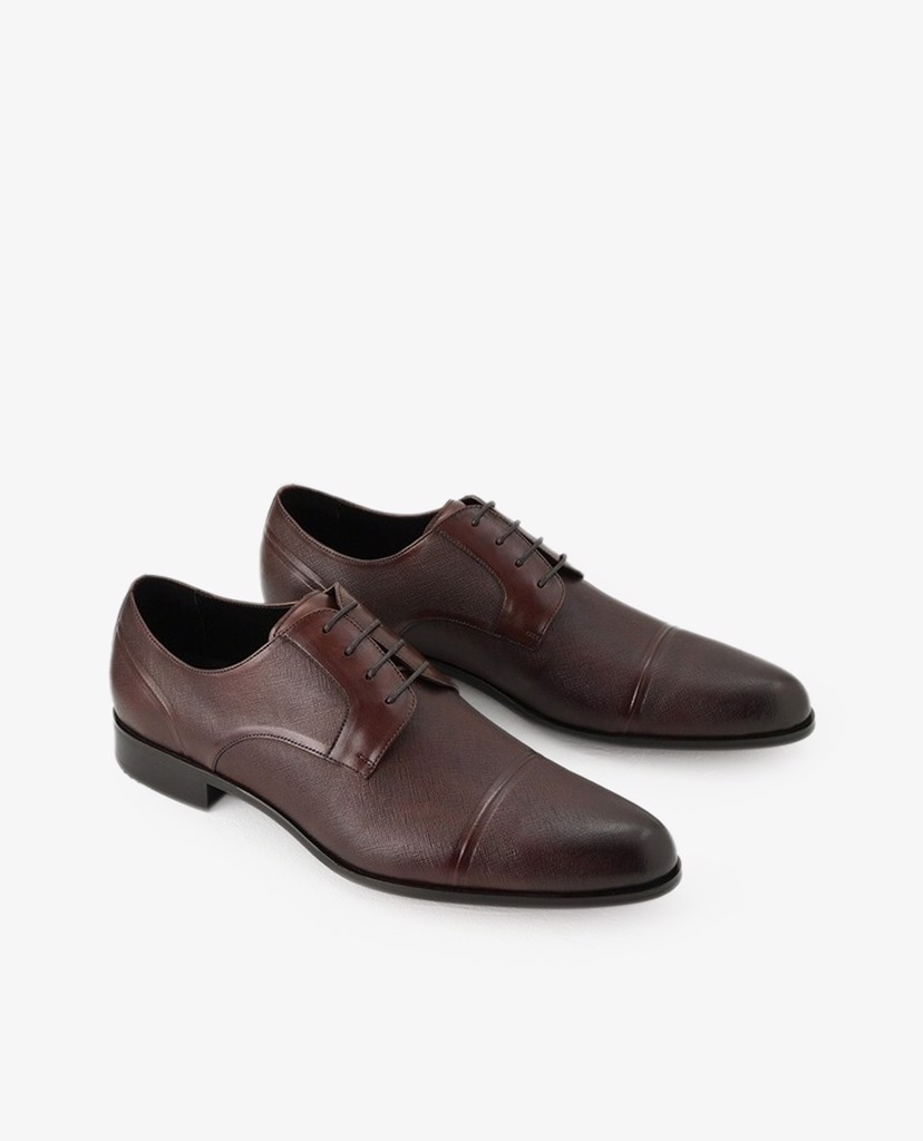 PEDRO - Giày tây nam Embossed Leather Derby
