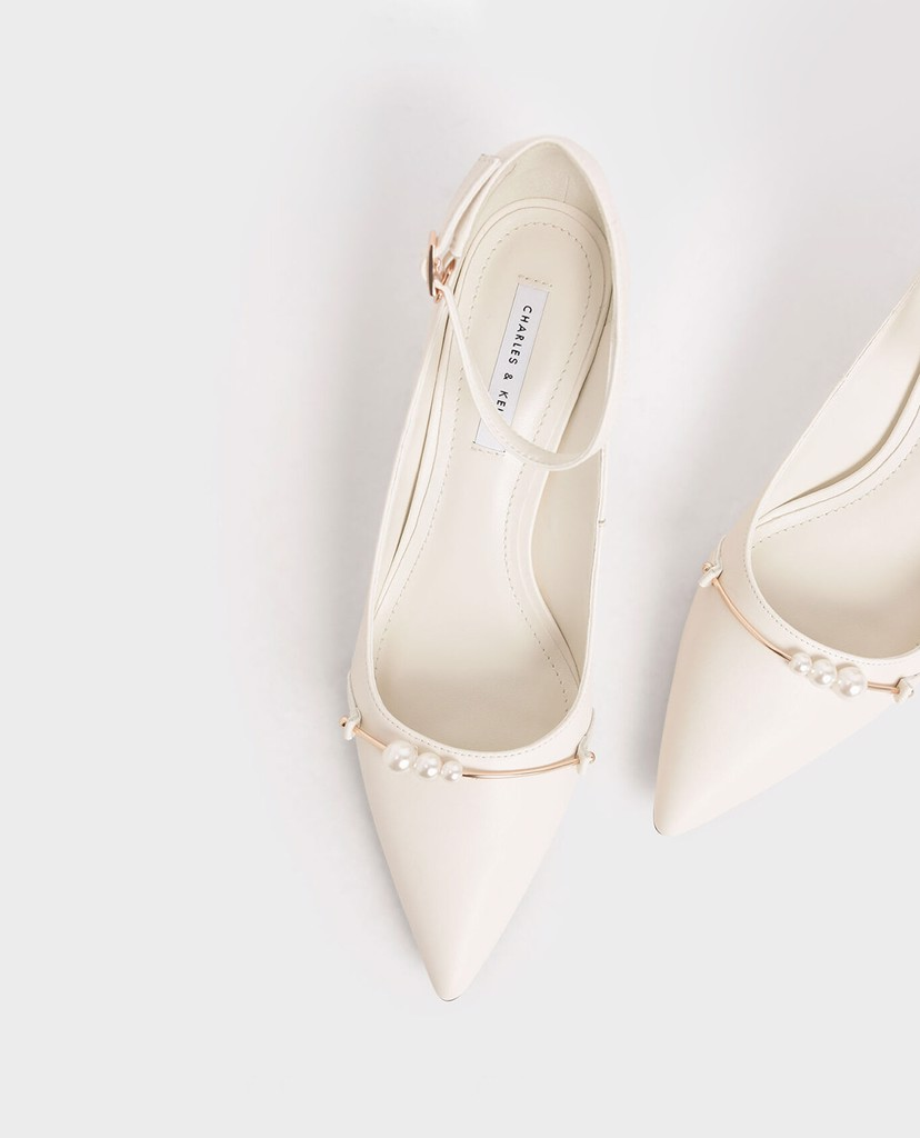 CHARLES & KEITH - Giày cao gót Embellished Pointed Toe Pumps