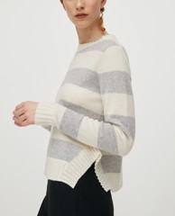 MAX&Co. - Áo sweater nữ tay dài cổ tròn Short Wool And Casmere