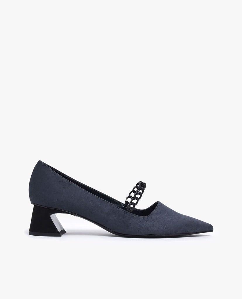 CHARLES & KEITH - Giày cao gót mũi nhọn Chain Strap Curved ...
