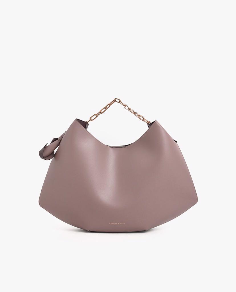 CHARLES & KEITH - Túi đeo vai Large Chain Handle Hobo Bag ...
