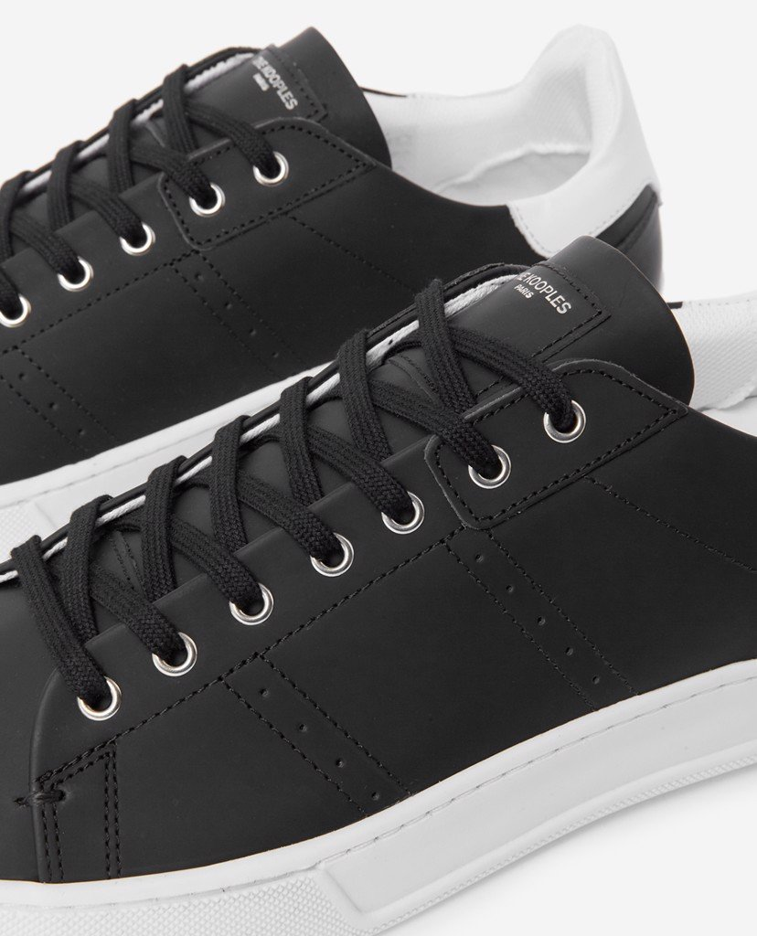 THE KOOPLES - Giày sneaker nam phối dây Black Leather