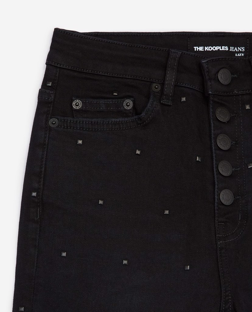 THE KOOPLES - Quần jeans nữ phom slim fit Visible Buttons