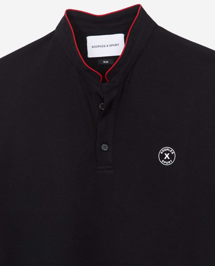 THE KOOPLES - Áo polo nam tay ngắn Black Cotton