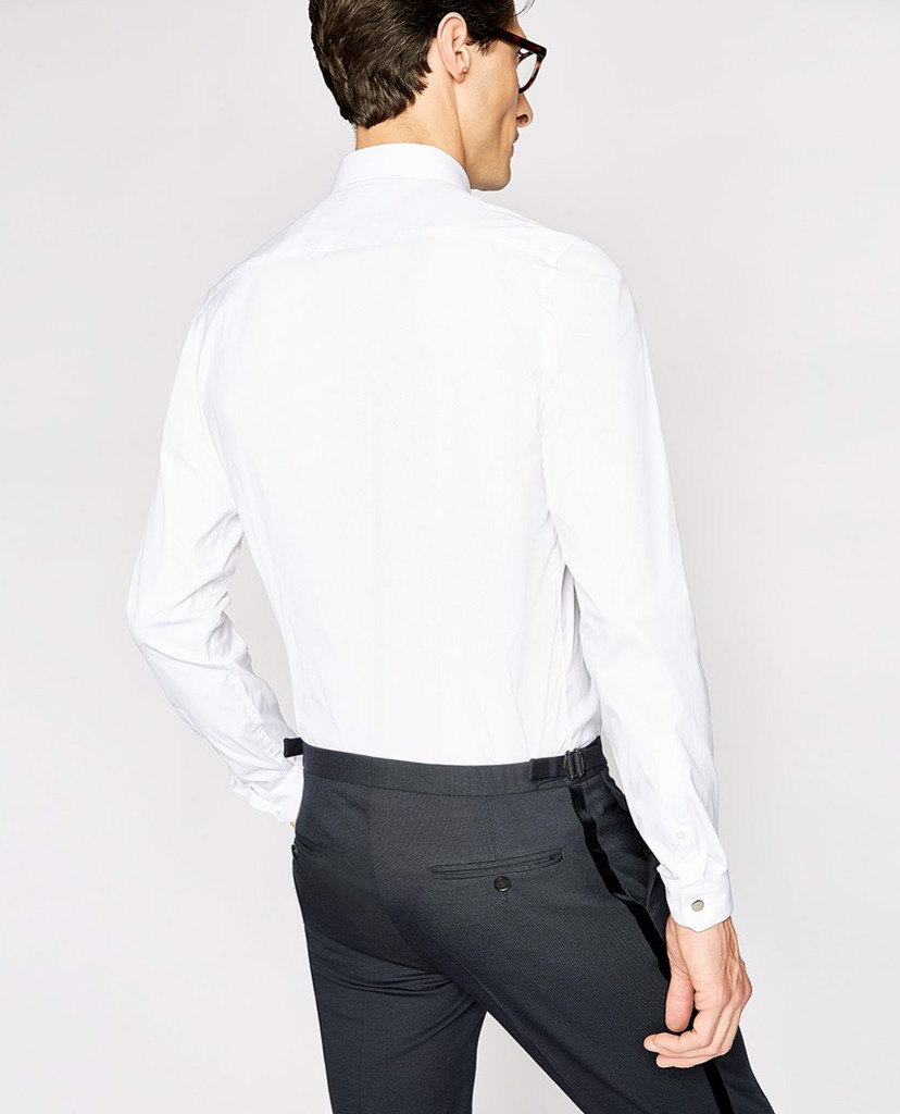 THE KOOPLES - Áo sơ mi nam tay dài Stretch Cotton Poplin