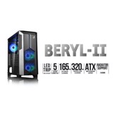 CASE BERYL II BLACK - KÈM FAN LED