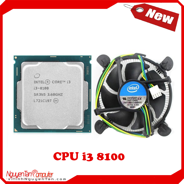 CPU i3 8100 NEW TRAY