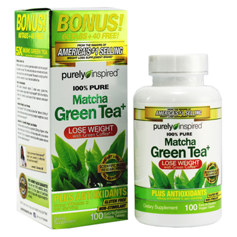 PURELY INSPIRED 100% PURE MATCHA GREEN TEA BONUS 100CT US