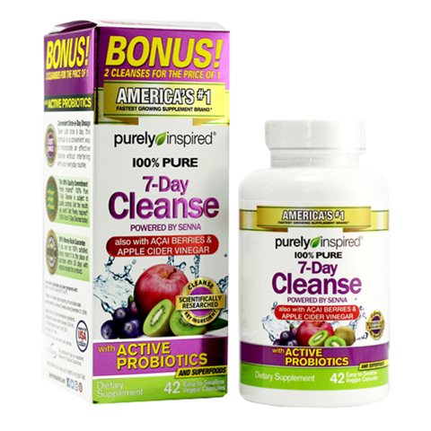 (10) PURELY INSPIRED100% PURE 7- DAY CLEANSE 24CT US