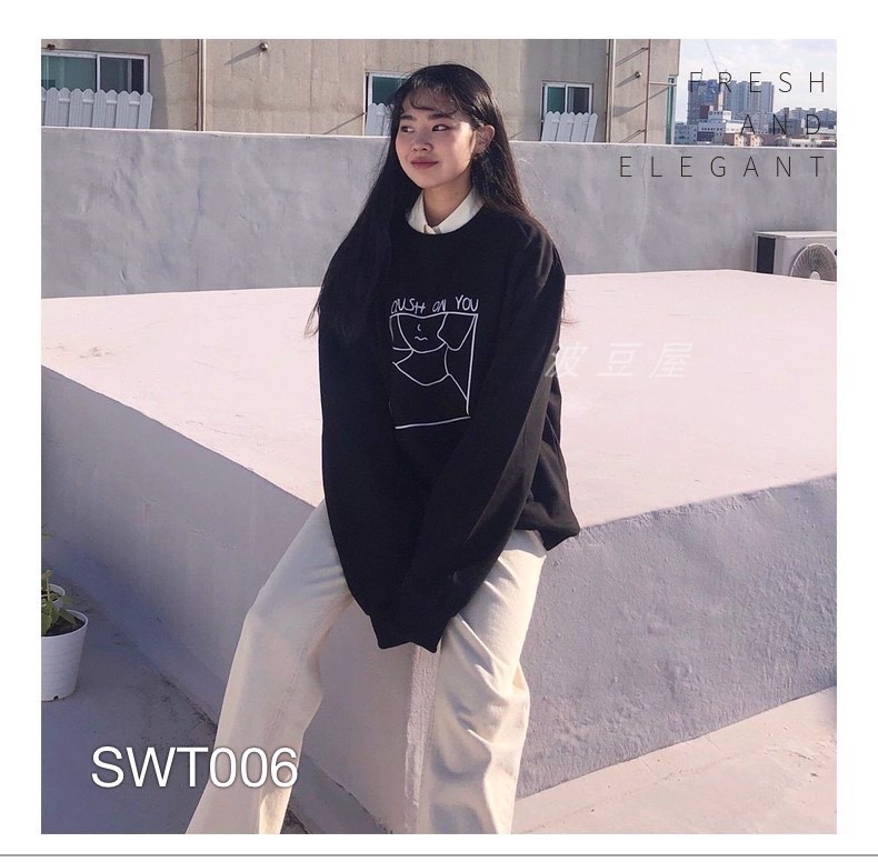 SWT006-K1 ÁO SWEATER CRUSH ON YOU