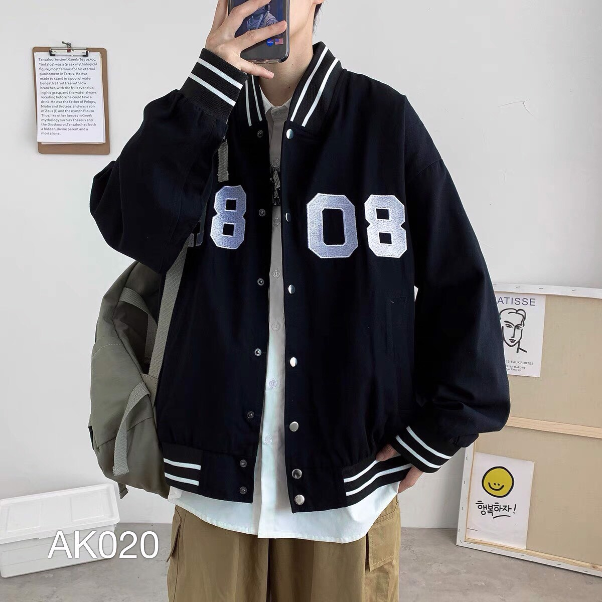 AK020 - JACKET BOMBER KAKI IN 08