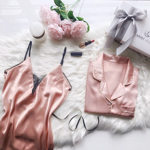 Women's Day Giftset CB02 (02 Set Sleepwear) - Hồng