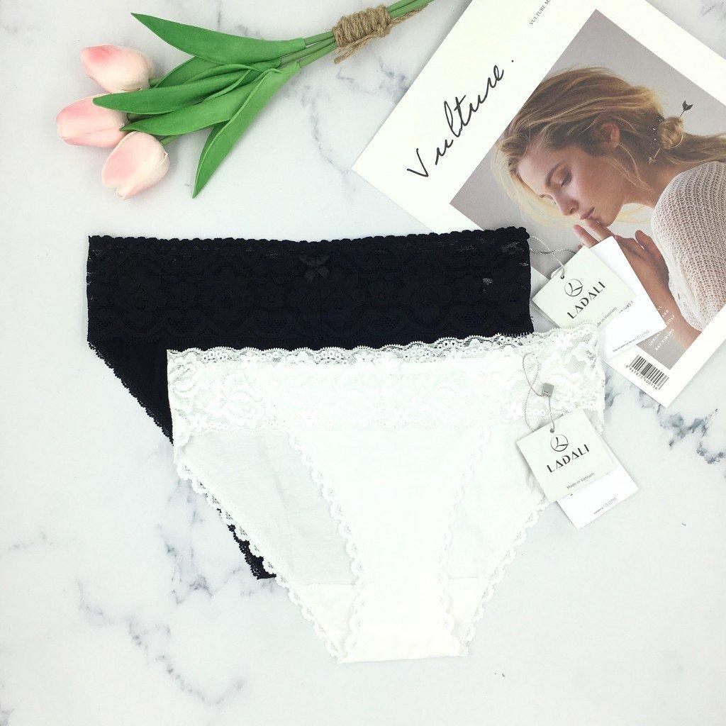 Combo 02 quần cotton tam giác Ladali QĐ502 - Đen & Trắng