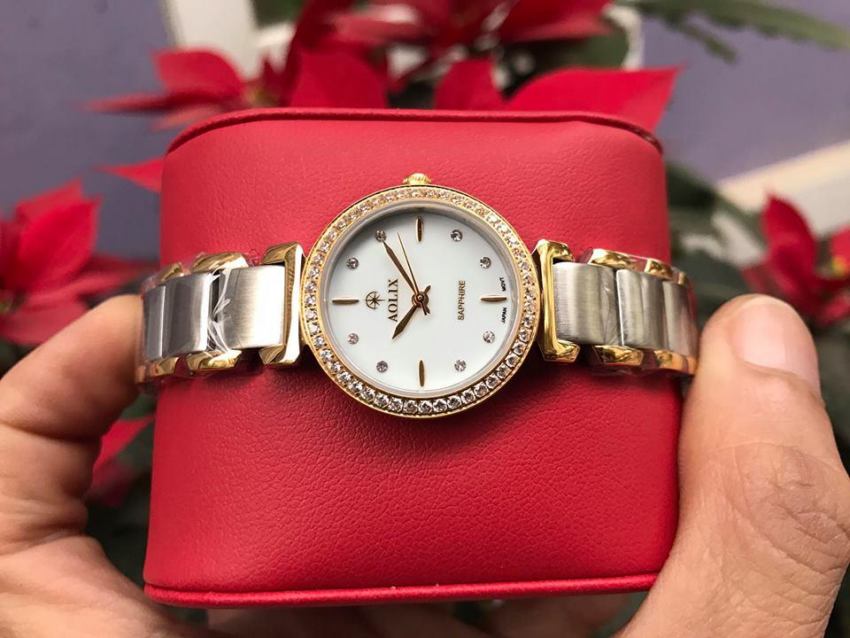 Đồng hồ lắc nữ chính hãng Aolix AL 1035LSK-T