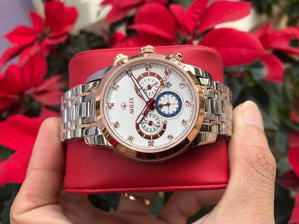Đồng hồ nam chính hãng Aolix AL7049GSR-T